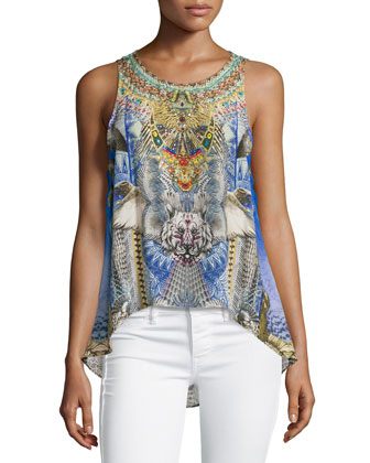 Shamanic by Nature Mixed-Print Tank Top