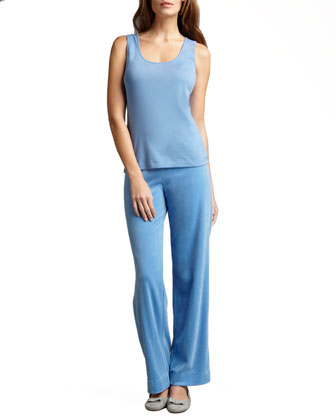 Velour Track Pants, Women's