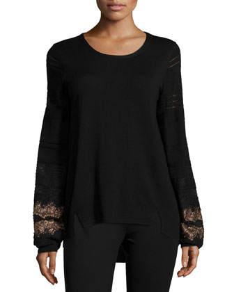 Angelina Sweater W/ Lace Cuffs