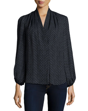 Josephine Long-Sleeve Printed Blouse