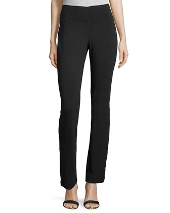 Stretch Jersey Yoga Pants, Charcoal