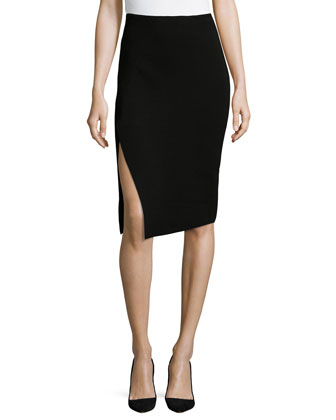 Midi Pencil Skirt W/ Slit