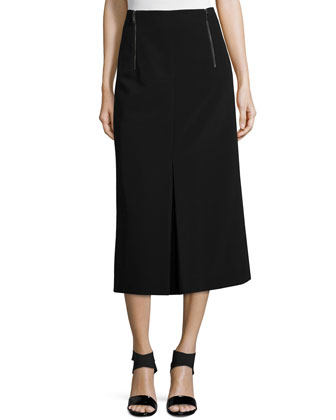 Long Skirt W/ Inverted Pleat