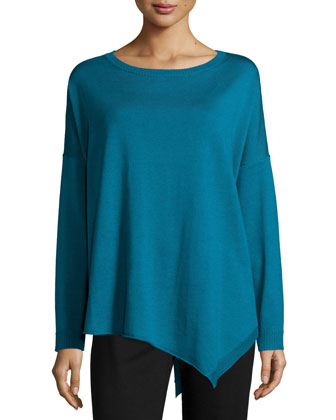 Merino Jersey Asymmetric Tunic, Women's