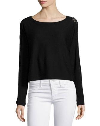 Casper Long-Sleeve Sweater, Black