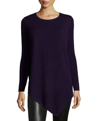 Tambrel Asymmetric-Hem Sweater