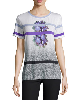 Short-Sleeve Round-Neck Tee, Mid Purple