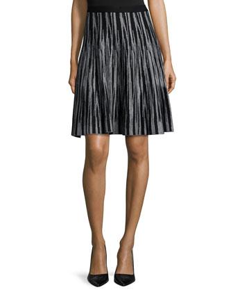 Jacquard Brushstroke A-line Skirt