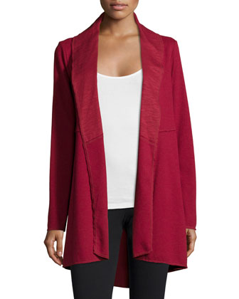 Cotton A-line Slub Jersey Jacket & Stretch-Cotton Jersey Leggings