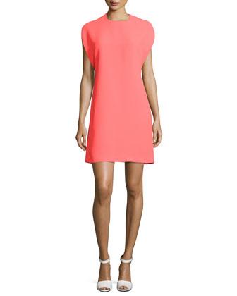 Cape-Sleeve Shift Dress, Reflector