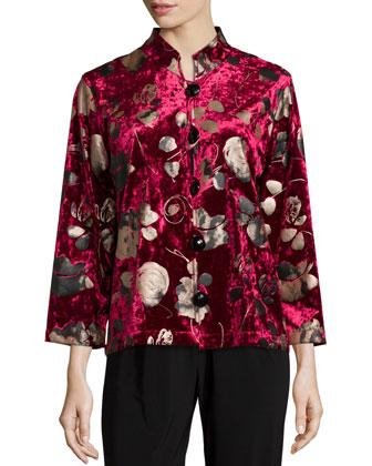 Panne Velvet Jacket, Women's