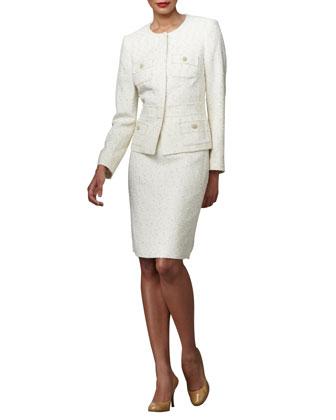 Tweed Suit w/Metallic Threading