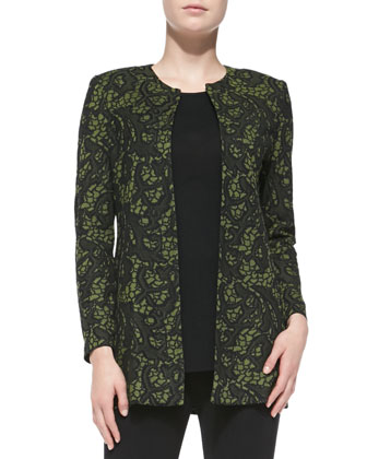 Tapestry Long Jacket, Petite