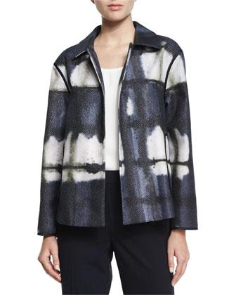 Tavi Painterly-Print Topper Jacket