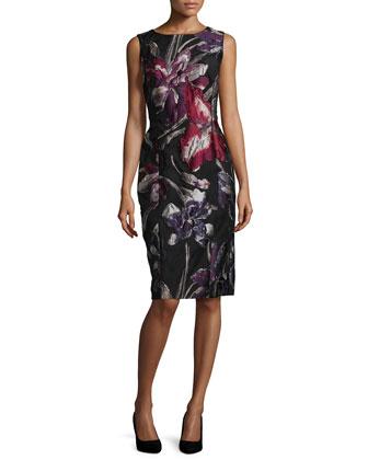 Carol Floral Jacquard Dress