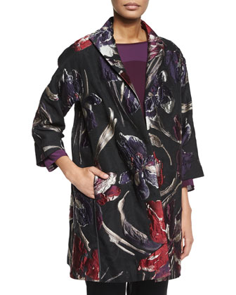 Mary Floral Jacquard Topper Coat