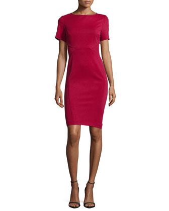 Hadley Short-Sleeve Body-Conscious Cocktail Dress