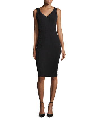 Pia Sleeveless Cocktail Sheath Dress, Black