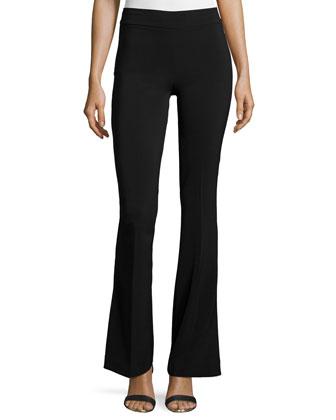 Bellini Crepe Flare-Leg Pants