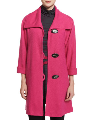 Paris Plush Easy Coat, Pink, Women's