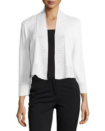 Lilibeth Cropped Sweater, Blanc