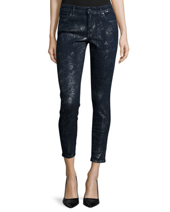 Wisdom Speckle Foil Skinny Ankle Jeans