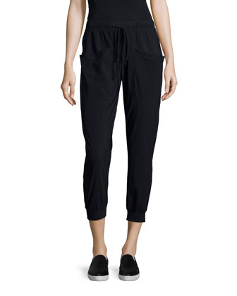 Pescadero Cropped Pants, Black