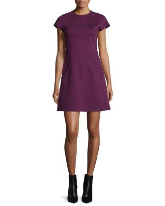 Reanne Ponte A-Line Dress, Burgundy