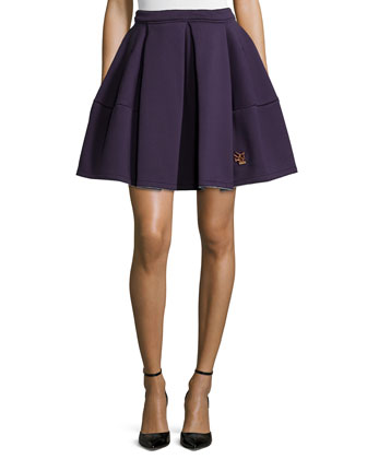Runway Pleated Skirt, Plum Blue