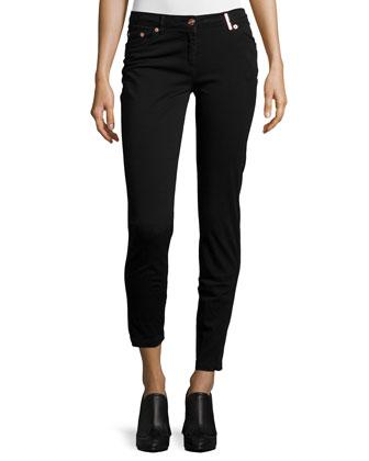 Runway Mid-Rise Skinny Trousers, Black
