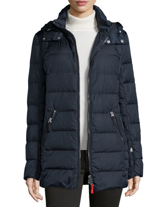Nera Hooded Down Car Coat