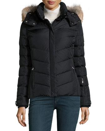 Sally Down Coat W/ Fur-Trim Hood