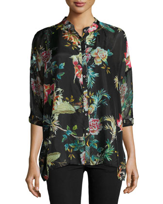 Malakye Button-Front Tunic, Women's