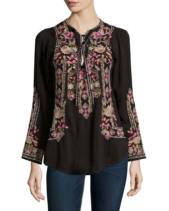 Fabio Embroidered Blouse, Women's