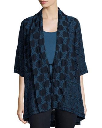 Subala Kimono Tie-Front Tunic