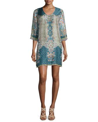 Heidi Silk Printed Shift Dress