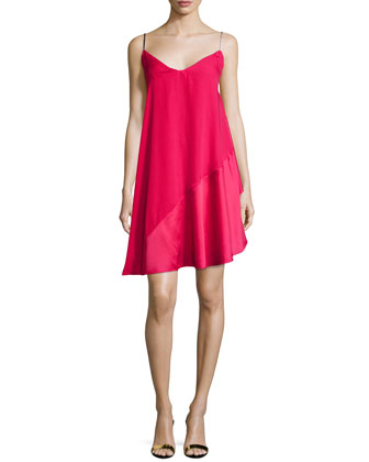 Sleeveless V-Neck Cocktail Dress, Ruby