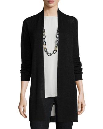 Tencel®-Linen Ribbed Cardigan