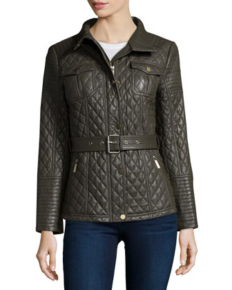Quilted Leather Barn Coat