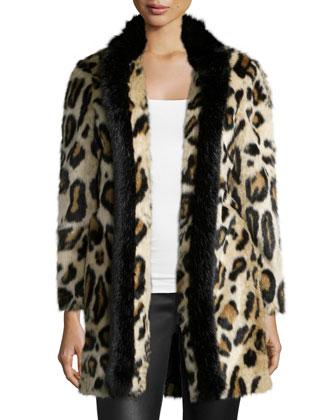 Faux-Fur Leopard-Print Topper Jacket