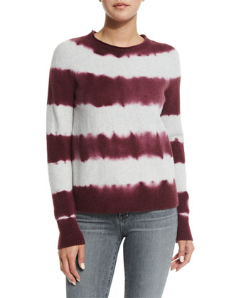 Mariposa Tie-Dye Striped Sweater & Maria High-Waist Skinny Jeans