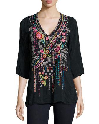 Sonrisa Embroidered Tunic, Women's
