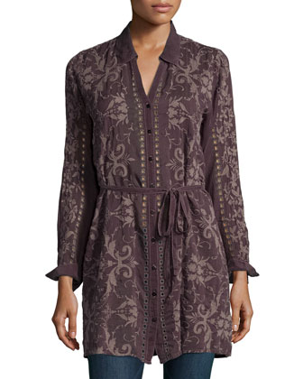 Mimi Long Button-Front Tunic