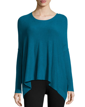 Cozy Long-Sleeve Boxy Top, Petite