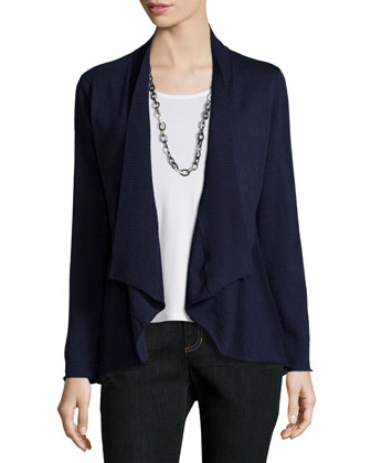 Merino Jersey Shaped Cardigan, Petite
