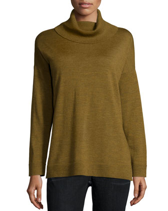Merino Jersey Turtleneck Box Top