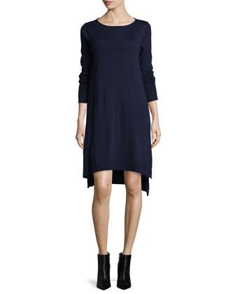 Merino Jersey Layering Dress, Petite