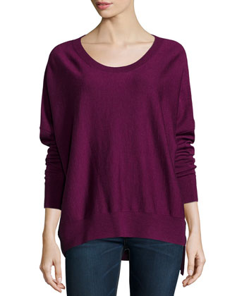 Merino High-Low Top, Petite