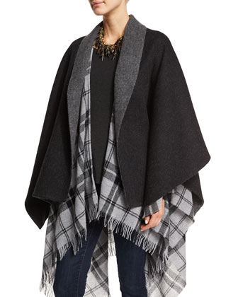 Fisher Project Baby Alpaca Poncho, Charcoal