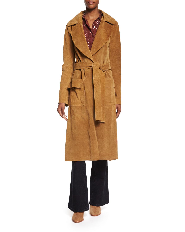 Le Duster Mid-Length Coat, Camel, Size: SMALL - FRAME DENIM